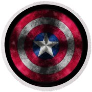 Captain America Shield Round Beach Towel