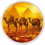 Caravan Round Beach Towel