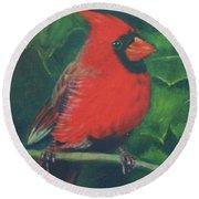 Cardinal Round Beach Towel