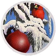 Cardinal One Ball Round Beach Towel