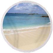 Round Beach Towel featuring the photograph Caribbean Beach Front by Fiona Kennard