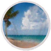 Round Beach Towel featuring the photograph Caribbean Dreams by Betty LaRue