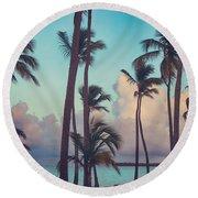 Caribbean Dreams Round Beach Towel
