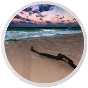 Caribbean Sunset Round Beach Towel by Mihai Andritoiu