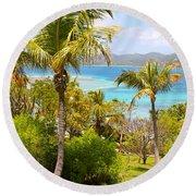Caribbean View Round Beach Towel