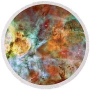Carina Nebula - Interpretation 1 Round Beach Towel