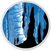 Carlsbad Caverns National Park Vintage Poster Round Beach Towel