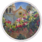 Carmel Mission Round Beach Towel