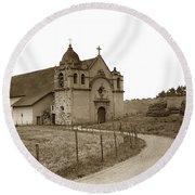 Carmel Mission Monterey Co. California Circa 1890 Round Beach Towel