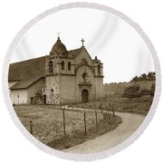 Carmel Mission Monterey Co. California Circa 1890 Round Beach Towel