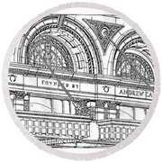 Carnegie Hall Round Beach Towel