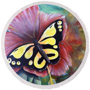 Carnival Butterfly Round Beach Towel