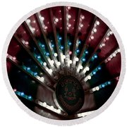 Carnival Lights Round Beach Towel