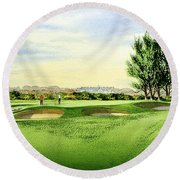 Carnoustie Golf Course 13th Green Round Beach Towel