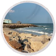 Round Beach Towel featuring the photograph Carolina Coast by Cynthia Guinn