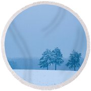 Carolina Snow Round Beach Towel