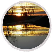 Carolina Sunrise Round Beach Towel
