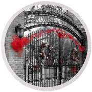 Carousel Gardens - New Orleans City Park Round Beach Towel by Deborah Lacoste