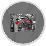 Carousel Gardens - New Orleans City Park Round Beach Towel