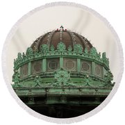 Round Beach Towel featuring the photograph Carousel Roof Asbury Park Nj by John Williams