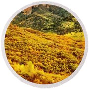 Carpeted In Autumn Splendor Round Beach Towel