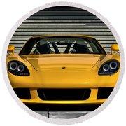 Porsche, Carrera Gt Round Beach Towel