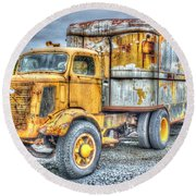 Carrier Round Beach Towel by Dan Stone