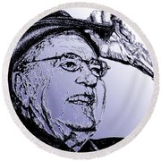 Carroll Shelby In 2006 Round Beach Towel