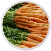 Carrots Round Beach Towel