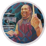 Carter Beauford Pop-op Series Round Beach Towel