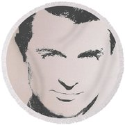 Cary Grant Round Beach Towel