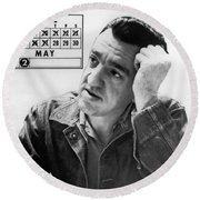 Caryl Chessman Round Beach Towel by Underwood Archives