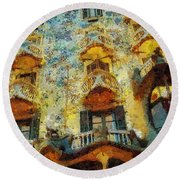 Casa Battlo Round Beach Towel