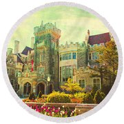 Casa Loma Series 03 Round Beach Towel