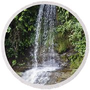 Cascada Pequena Round Beach Towel by Kathy McClure