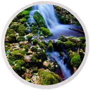 Cascade Creek Round Beach Towel