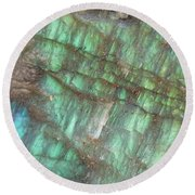 Cascade Of Green Round Beach Towel