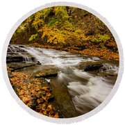 Cascadilla Gorge Trail Round Beach Towel