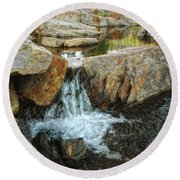 Cascading Downward Round Beach Towel by Donna Blackhall
