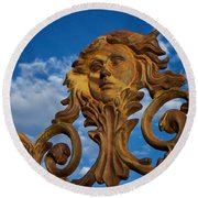 Cast Iron Maiden Of The Sky Round Beach Towel