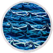 Round Beach Towel featuring the photograph Cast Your Net Upon The Waters by Stephanie Grant