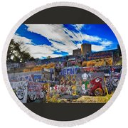 Castle Graffiti Art Round Beach Towel