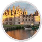 Castle At The Waterfront, Chateau Royal Round Beach Towel