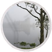 Castle Kilchurn Tree Round Beach Towel by Gary Eason