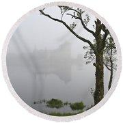 Castle Kilchurn Tree Round Beach Towel
