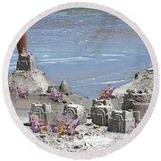 Castle Kingdom  Round Beach Towel by Betsy Knapp