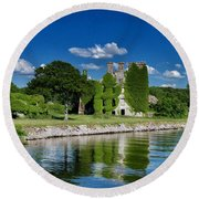 Castle Menlo  Round Beach Towel