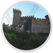 Castle Of Love Round Beach Towel by Laurie Search