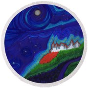 Castle On The Cliff By Jrr Round Beach Towel by First Star Art