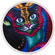 Cat 2 Round Beach Towel
